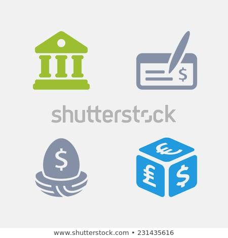 Banque dépôt granit professionnels icônes Photo stock © micromaniac
