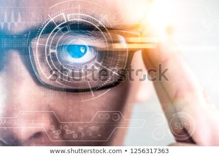 ビジネスマン 着用 眼鏡 作業 ストックフォト © wavebreak_media