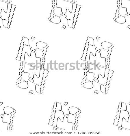 Lesbiennes zoenen meisjes kus meisje Stockfoto © MaryValery