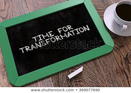 time for transformation   hand drawn on green chalkboard stock photo © tashatuvango