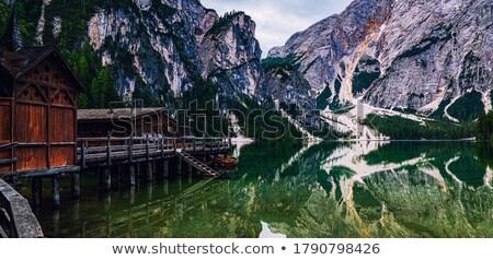 lago · alpes · montanhas · natureza · montanha · prado - foto stock © janpietruszka
