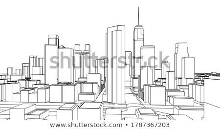 Modern city panorama Stock photo © rogistok