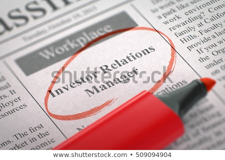 job opening public relations manager 3d stock photo © tashatuvango