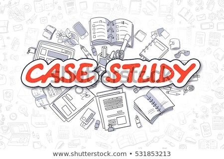Research - Cartoon Red Inscription. Business Concept. stock photo © tashatuvango