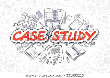 Kutatás rajz piros felirat üzlet firka Stock fotó © tashatuvango