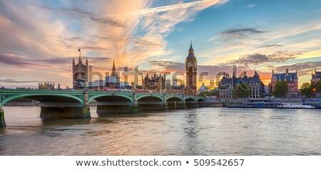 View Big Ben westminster ponte tramonto Londra Foto d'archivio © vwalakte