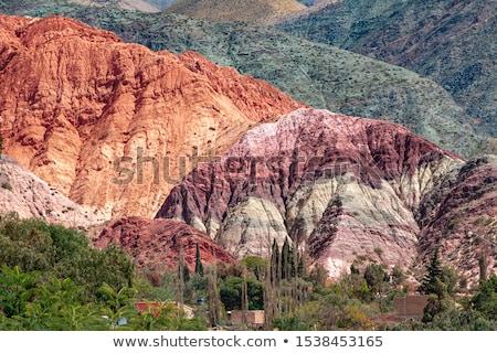 Heuvel zeven kleuren Argentinië berg Blauw Stockfoto © daboost