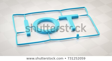 plastic injection molding word iot Stock photo © magann