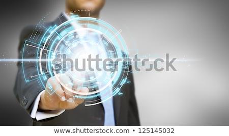 手 · 触れる · アプリ · キーパッド · 現代 · キーボード - ストックフォト © tashatuvango