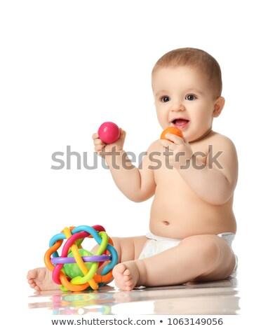 girl sitting in diaper Stock photo © Traimak