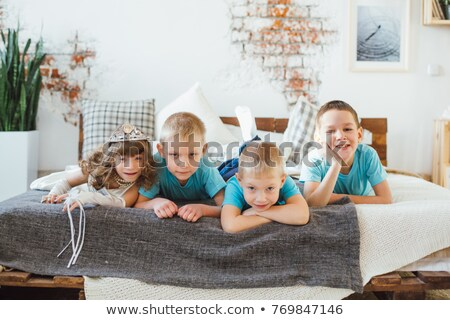 Three brothers and mother Stock photo © IS2