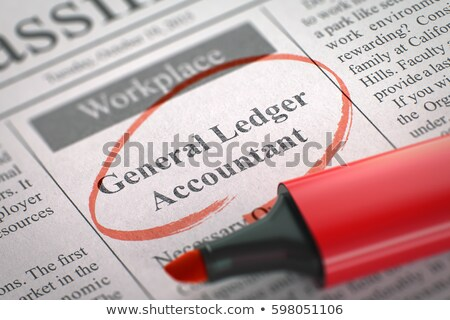 Job Opening Consolidation Accountant. 3D. Stock photo © tashatuvango