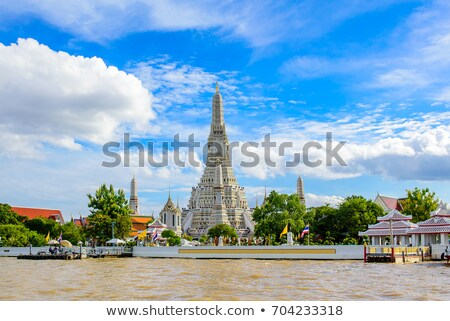 Thai temple and blue sky stock photo © jiaking1