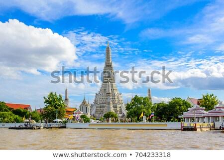 Thai templo blue sky edifício arquitetura antigo Foto stock © jiaking1