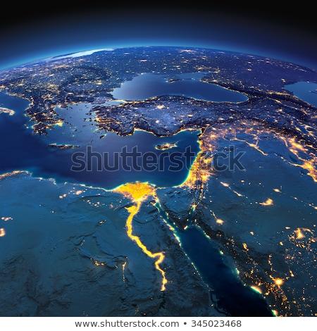 Yunanistan uzay kırmızı görmek yörünge 3d illustration Stok fotoğraf © Harlekino
