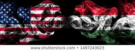 Futball lángok zászló Magyarország fekete 3d illusztráció Stock fotó © MikhailMishchenko