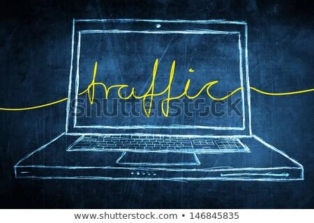 Web verkeer laptop scherm landing Stockfoto © tashatuvango