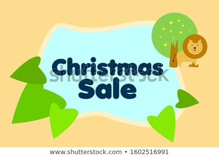 Рождества продажи лев вектора смешные снега Сток-фото © Dimpens