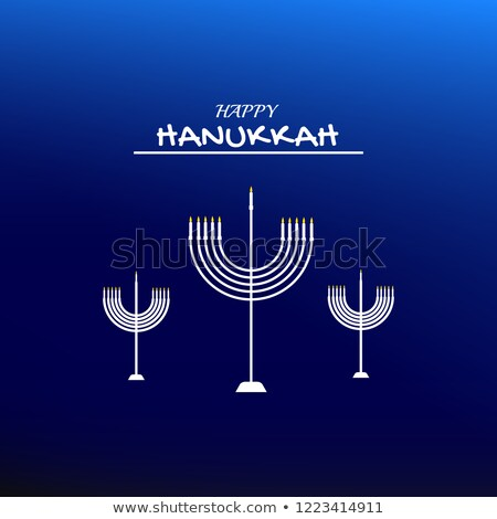 Happy Hanukkah card template with candlelights Stock photo © bluering
