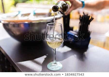 zöld · üvegek · jég · sör · izolált · fehér - stock fotó © denismart