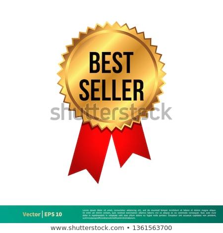 o · melhor · vendedor · dourado · etiqueta · distintivo · vetor - foto stock © SArts