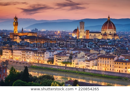 the duomo at night florence italy stock photo © is2