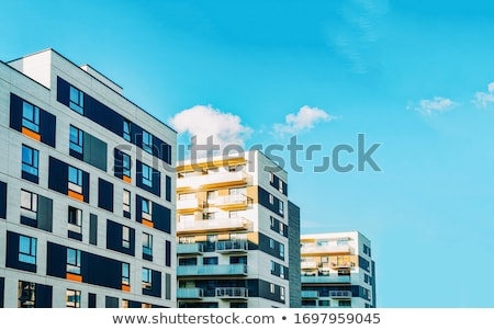 Modern apartment house with a concrete facade Stock photo © elxeneize