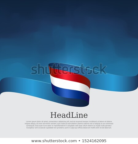 abstract wavy blue brochure template design Stock photo © SArts