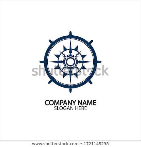 Stuur steeg navigatie symbool schip logo Stockfoto © adrian_n