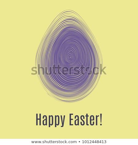 Iyi paskalyalar mor kart yumurta çocuklar Stok fotoğraf © gladiolus