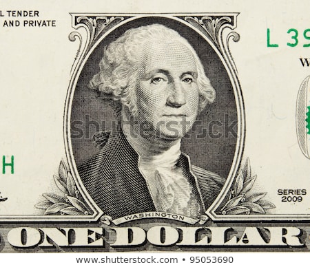 Stockfoto: Washington · portret · een · dollar · Bill · macro
