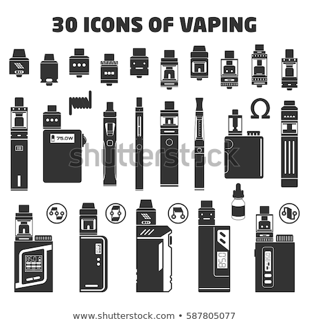 vector box mod vape illustration