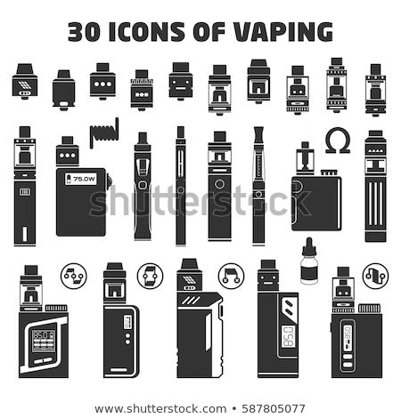 vettore · sigaretta · etichetta · eps · 10 · design - foto d'archivio © trikona