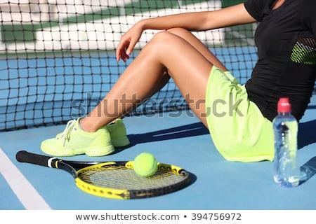 woman tennis player showing the ball stock photo © kzenon
