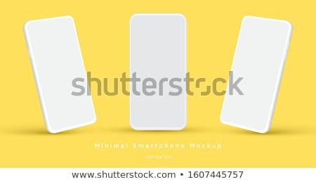 Isometric white smartphone isolated illustration. Stock photo © RAStudio
