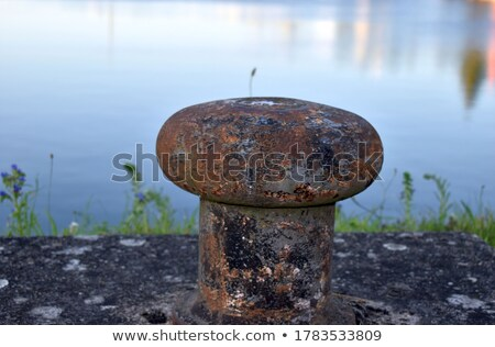 Mooring bollard and abandoned wharf Stock photo © tracer