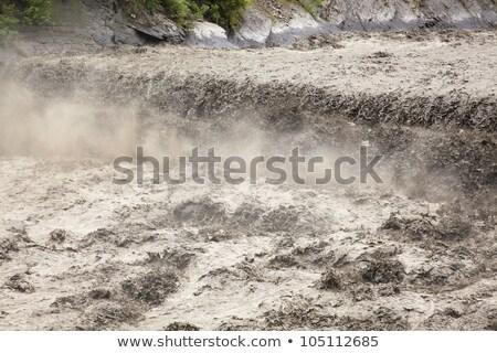 Vale inundação catástrofe desenho animado paisagem Foto stock © blamb