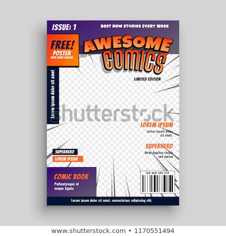 Elegáns képregény borító oldal design sablon háttér Stock fotó © SArts