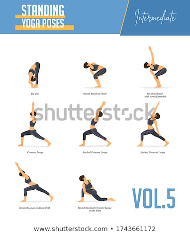 flexibilité · entraînement · blond · fille - photo stock © robuart