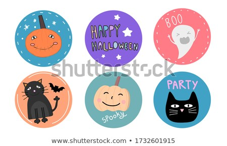 Halloween image with ghosts theme 6 Stock photo © clairev