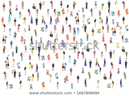 mother with baby   cartoon people characters illustration stock photo © decorwithme