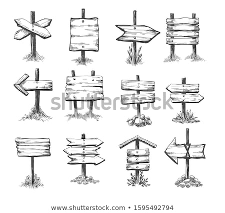 Direction sign hand drawn outline doodle icon. Stock photo © RAStudio