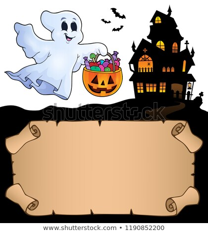 Small parchment and Halloween ghost Stock photo © clairev