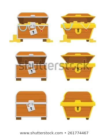 kincsesláda · halom · arany · érmék · klasszikus · vektor - stock fotó © robuart