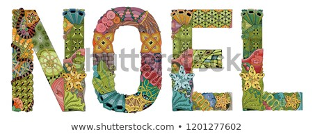 Word NOEL. Vector decorative zentangle object for decoration Stock photo © Natalia_1947