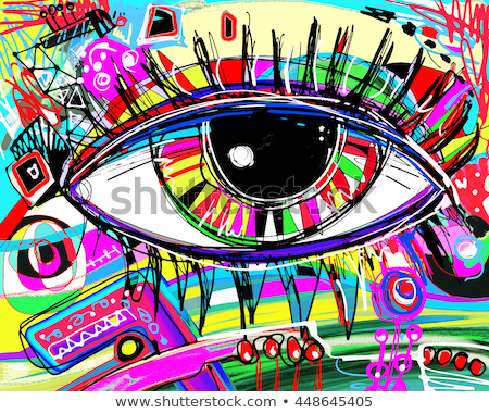 Eyeballs Colorful Sketch Stock photo © Anna_leni