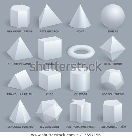 Cône prisme carré pyramide vecteur Photo stock © robuart