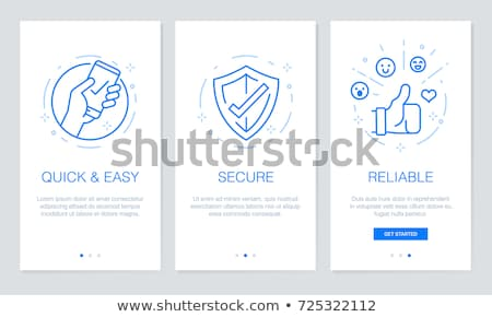 Business Mobile App Icons Linear templates Set Stock photo © robuart