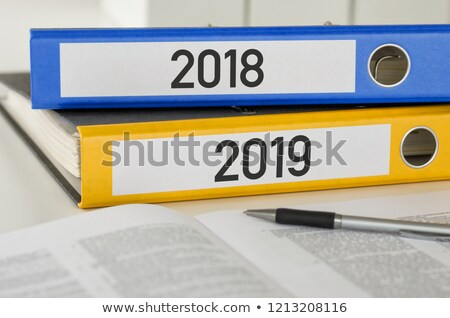 Folders with the label 2018 and 2019 Stock photo © Zerbor