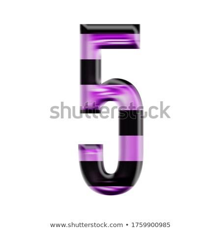 zwart · wit · aantal · vijf · 3D · 3d · render - stockfoto © djmilic